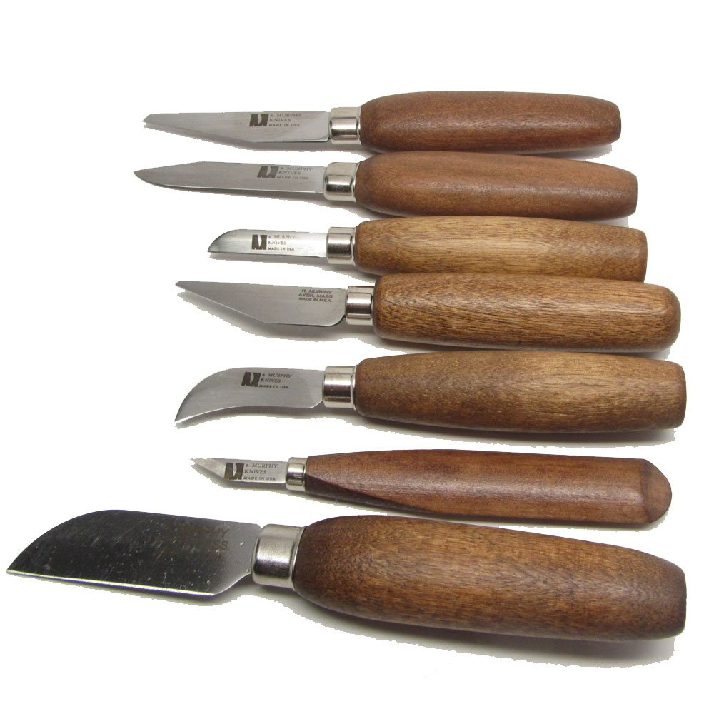R Murphy 7 Piece Complete Shoe Knife Craft Wood Carving Set
